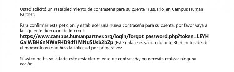 Mensaje email